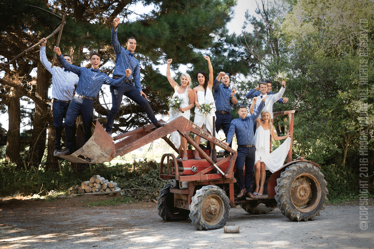 Tractor With Bridal Party